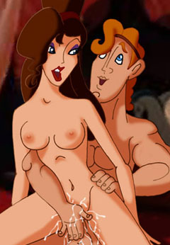 Cartoon porn starring Hercules and Meg