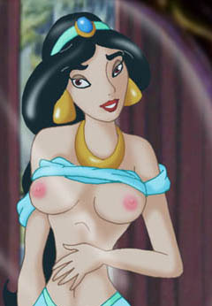 Jasmine plays naked in front of the mirror